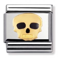 Nomination CLASSIC Gold Halloween Skull Charm 030216/08