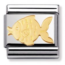 Nomination CLASSIC Gold Animals of the Water Fish Charm 030113/02