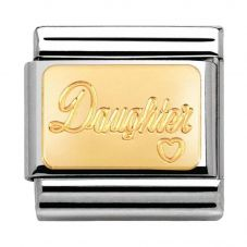 Nomination CLASSIC Gold Family Daughter Charm 030121/25