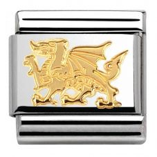 Nomination CLASSIC Gold Animals of Earth Dragon Charm 030112/31