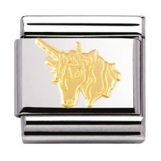 Nomination CLASSIC Gold Fantasia Unicorn Charm 030149/07