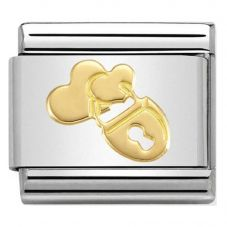 Nomination CLASSIC Gold Symbols Padlock Hearts Charm 030162/28