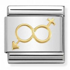 Nomination CLASSIC Gold Symbols Him and Her Infinity Charm 030162/31