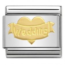 Nomination CLASSIC Gold Symbols Wedding Heart Charm 030162/32