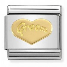 Nomination CLASSIC Gold Symbols Groom Heart Charm 030162/34