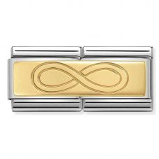 Nomination CLASSIC Gold Double Engraved Infinity Charm 030710/07