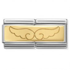 Nomination CLASSIC Gold Double Engraved Wings Charm 030710/08