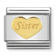 Nomination CLASSIC Gold Symbols Sister Heart Charm 030162/36