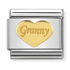Nomination CLASSIC Gold Symbols Granny Heart Charm 030162/39