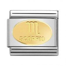 Nomination CLASSIC Gold Zodiac Oval Scorpio Charm 030165/08