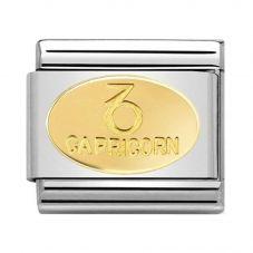 Nomination CLASSIC Gold Zodiac Oval Capricorn Charm 030165/10