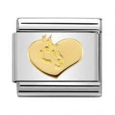 Nomination CLASSIC Gold Symbols Heart With Horse Charm 030149/27