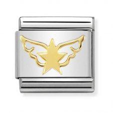 Nomination CLASSIC Gold Symbols Angel Of Stars Charm 030162/45
