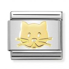 Nomination CLASSIC Gold Cat Face Charm 030162/53