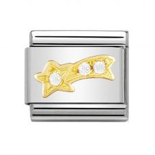 Nomination CLASSIC Gold Shooting Star with Cubic Zirconia Charm 030308/25