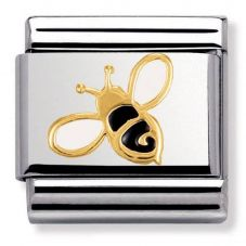 Nomination CLASSIC Gold Nature Black and Yellow Bee Charm 030278/01
