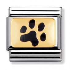 Nomination CLASSIC Gold Animals of the Earth Paw Print Charm 030284/47
