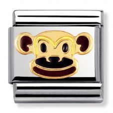 Nomination CLASSIC Gold Animals of Earth Monkey Charm 030248/12