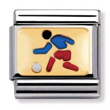 Nomination CLASSIC Gold Sports Footballer Charm 030203/02