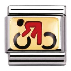 Nomination CLASSIC Gold Sports Cyclist Charm 030203/06