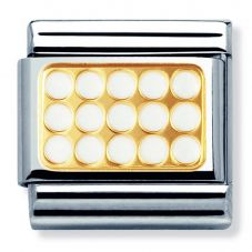 Nomination CLASSIC Gold Elegance White Grill Charm 030280/03