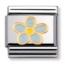 Nomination CLASSIC Gold Nature  Forget Me Not Charm 030214/44