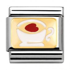 Nomination CLASSIC Gold Madame Monsieur Cup Of Tea Charm 030284/02