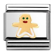 Nomination CLASSIC Gold Madame Monsieur Gingerbread Man Charm 030285/08