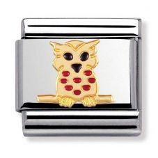 Nomination CLASSIC Gold Animals Owl Charm 030211/10