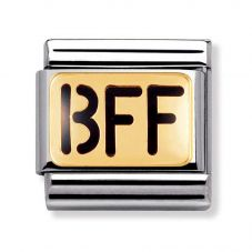 Nomination CLASSIC Gold Writings BFF Charm 030232/01