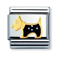 Nomination CLASSIC Gold Animals Terrier Dog Charm 030248/09