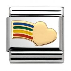 Nomination CLASSIC Gold Love Rainbow Heart Charm 030283/12