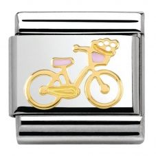 Nomination CLASSIC Gold Madame Monsieur Bicycle Charm 030285/40