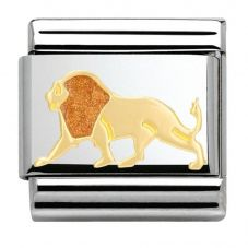 Nomination CLASSIC Gold Animals of the Earth Lion Charm 030248/15