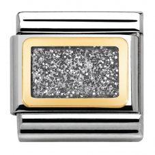 Nomination CLASSIC Gold Elegance Silver Glitter Charm 030280/38