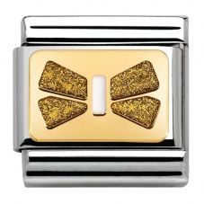 Nomination CLASSIC Gold Elegance White Bow Charm 030280/42