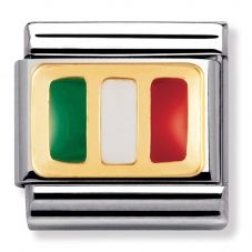 Nomination CLASSIC Gold Italy Flag Charm 030234/21