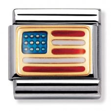 Nomination CLASSIC Gold United States Of America Flag Charm 030235/04