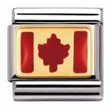 Nomination CLASSIC Gold Canada Flag Charm 030235/05
