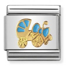 Nomination CLASSIC Gold Daily Life Blue Pram Charm 030242/46