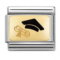 Nomination CLASSIC Gold Graduation Cap Charm 030284/27