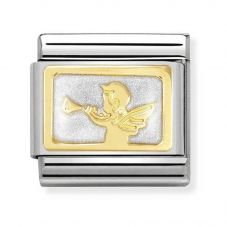 Nomination CLASSIC Gold Plates Angel Of Good News Charm 030284/33