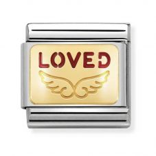 Nomination CLASSIC Gold Plates Angel Of Feeling Loved Charm 030284/34