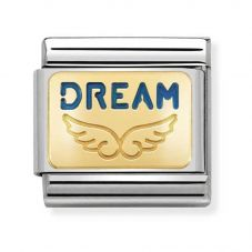 Nomination CLASSIC Gold Plates Angel Of Big Dreams Charm 030284/35