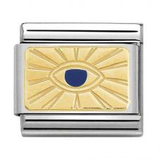Nomination CLASSIC Gold Cosmo Blue Eye Charm 030284/42