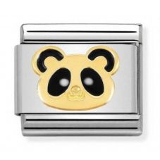 Nomination CLASSIC Gold Animals of Earth Panda Head Charm 030248/18