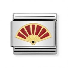 Nomination CLASSIC Gold Symbols Red Enamel Fan Charm 030285/48