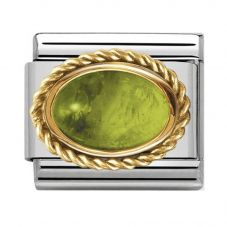 Nomination CLASSIC Gold Stones Oval Peridot Charm 030508/05