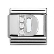 Nomination CLASSIC Silvershine Letter D Charm 330301/04