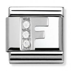 Nomination CLASSIC Silvershine Letter F Charm 330301/06